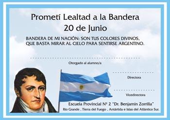 80274 - DIPLOMA DE PROMESA A LA BANDERA. Tama�o A4