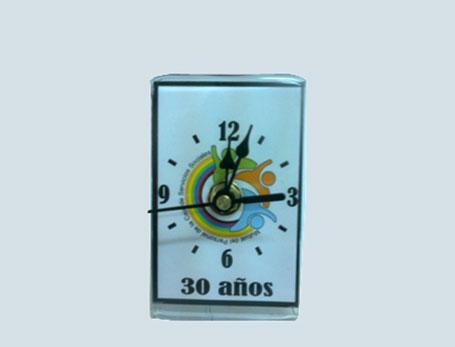 72232 - Reloj Small con logo - Tama�o 6 x 9cm - con caja individual