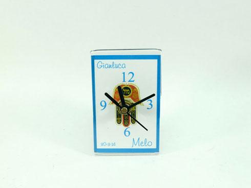 72232 - Reloj Small con Jamsa- Tama�o 6 x 9cm - Dise�o para Bar Mitzva. Caja Individual