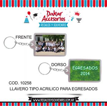 10258 - LLAVERO TIPO ACRILICO - SOUVENIRS PARA EGRESADOS -