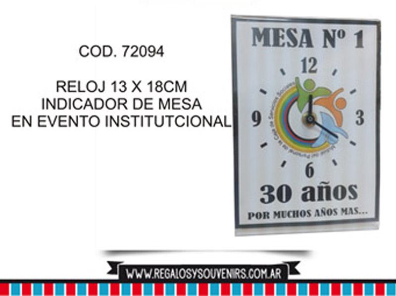 72094 - Reoj 13 x 18cm con logo - Indicador de mesa
