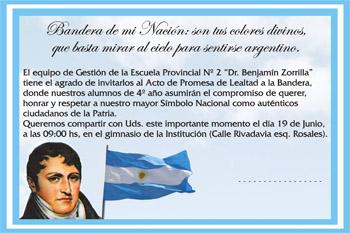 INVITACION PARA EVENTO DE PROMESA A LA BANDERA