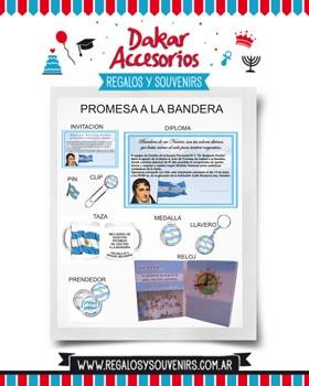 PROMESA A LA BANDERA - OPCIONES DE SOUVENIRS