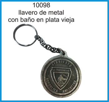 10098 - LLAVERO METALICO BA�ADO EN PLATA VIEJA - logo de LA FRATERNIDAD