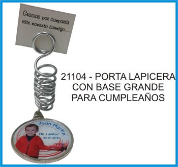 21104 - PORTA LAPICERA GRANDE PERSONALIZADO PARA CUMPLEA�OS
