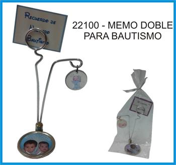 22100 - MEMO DOBLE CHICO PERSONALIZAD PARA BAUTISMO